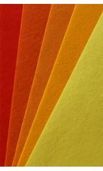 Bastelfilz, Uni-Filz-Set Orange-Gelb-Töne