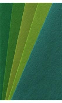 Bastelfilz, Uni-Filz-Set Grüntöne