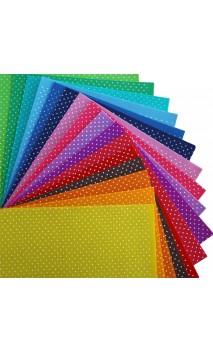 Paket 16 Farben Bastelfilz mit kleinen Punkten