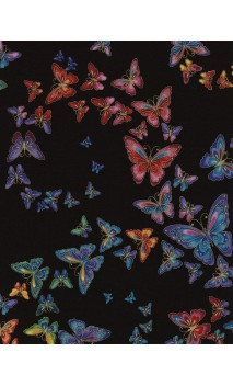 Allover Butterflies, Tiffany Black