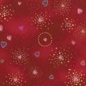 Laurel Burch Basic Hearts, Rot
