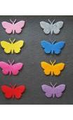 5 Stück Filz Schmetterlinge, gross