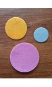Filz Kreise 5 cm,7.5 cm,10 cm