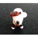 Exquisite Handgefertigte Lampwork Hund-Glasperle