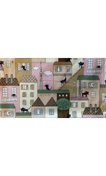 """""""Katzen in der Stadt """" Stoff"""