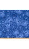 Blue Winter Snowy Swirl, Timeless Treasures